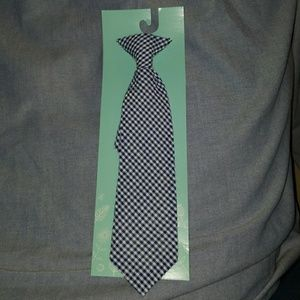 Other - Gingham Kids Neck Tie Checker Print Blue and White